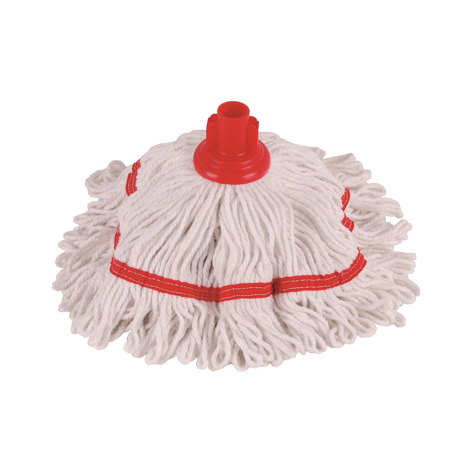 Mop heads Robert Scott & Sons Hygiemix T1 Socket Cotton & Synthetic Colour-coded Mop 250g Red Ref MHH250R