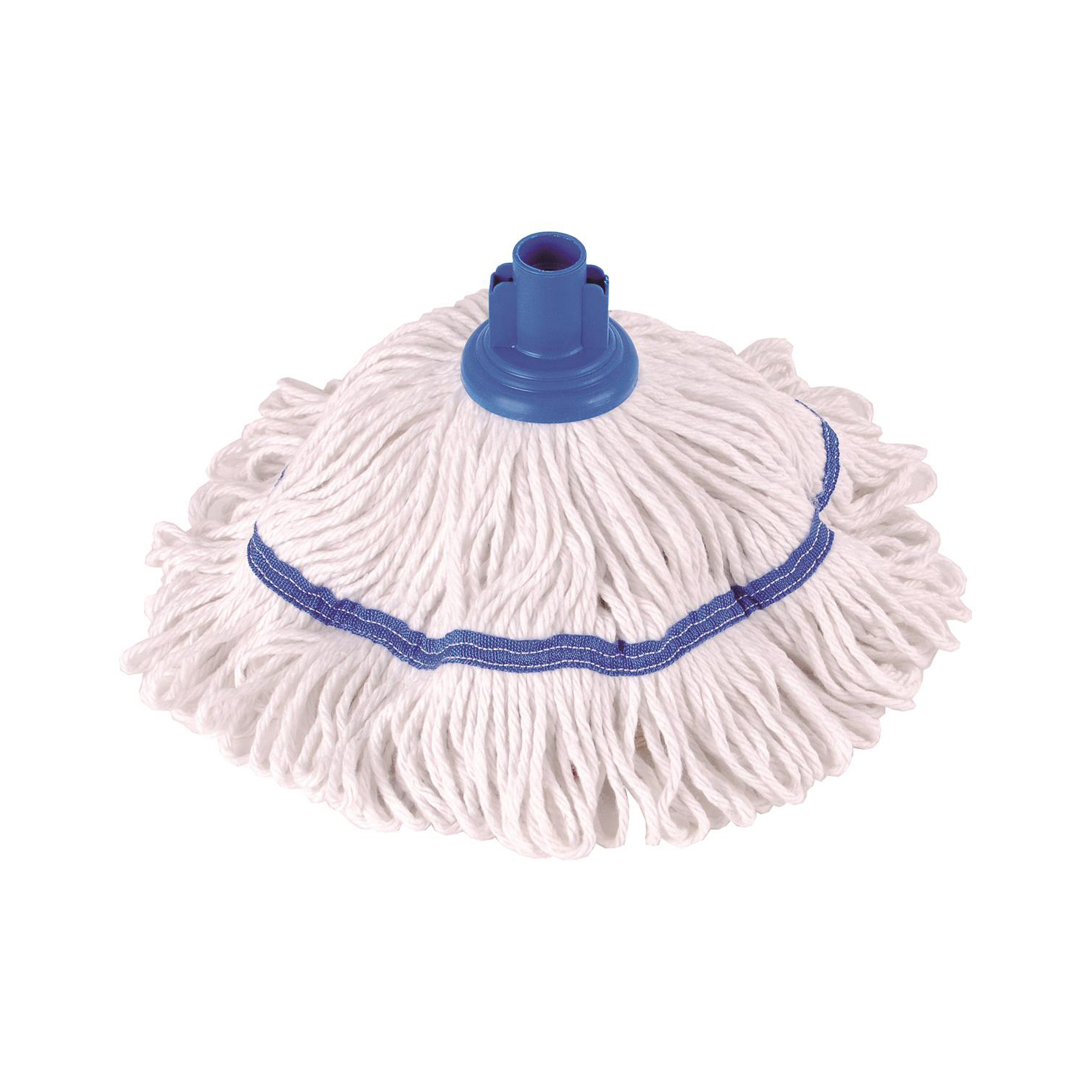 Mop heads Robert Scott & Sons Hygiemix T1 Socket Cotton & Synthetic Colour-coded Mop 250g Blue Ref MHH250B