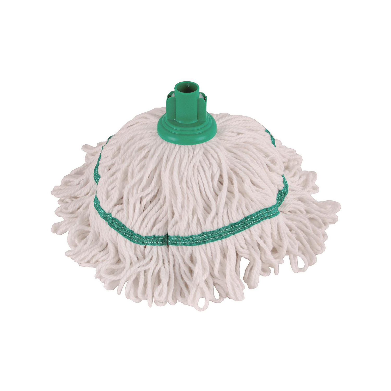 Mop heads Robert Scott & Sons Hygiemix T1 Socket Cotton & Synthetic Colour-coded Mop 250g Green Ref MHH250G