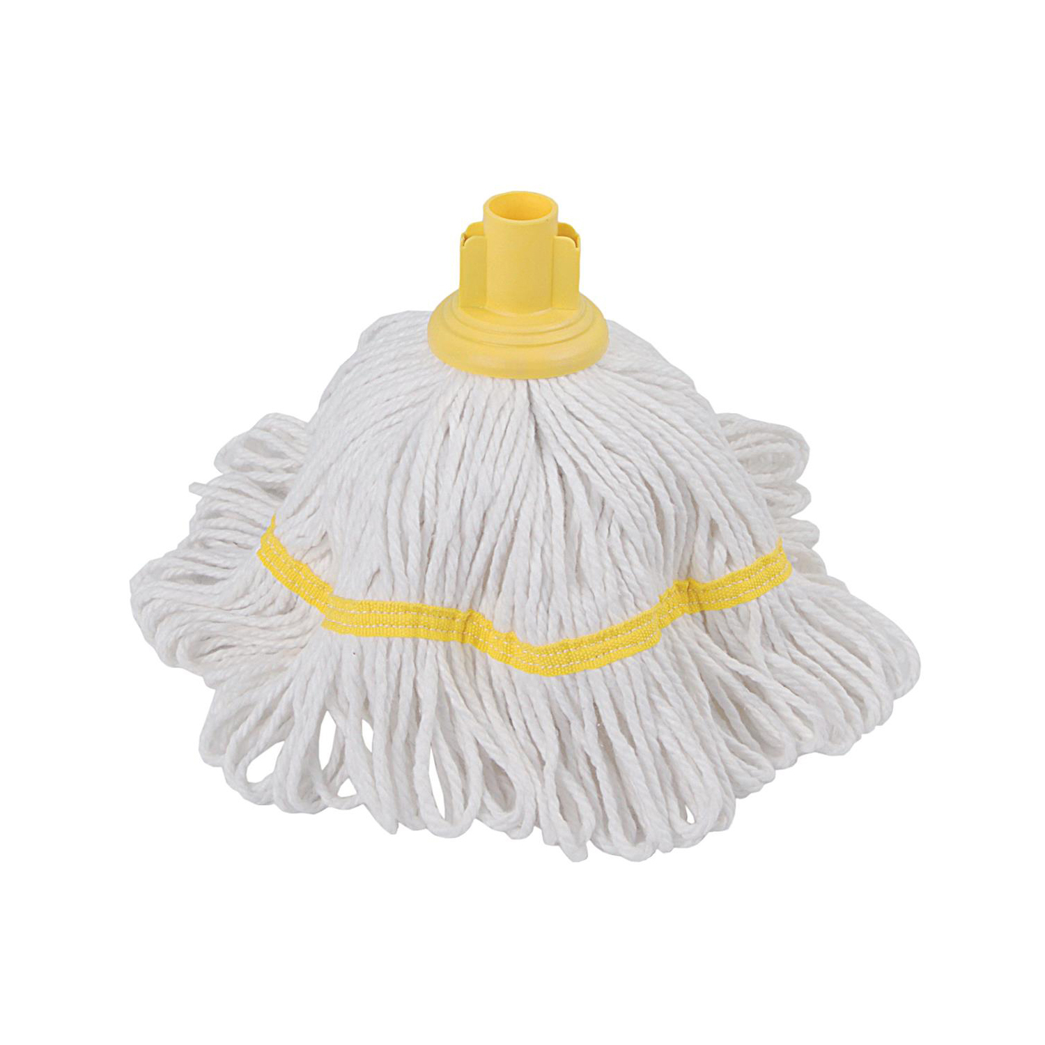 Mop heads Robert Scott & Sons Hygiemix T1 Socket Cotton & Synthetic Colour-coded Mop 250g Yellow Ref MHH250Y
