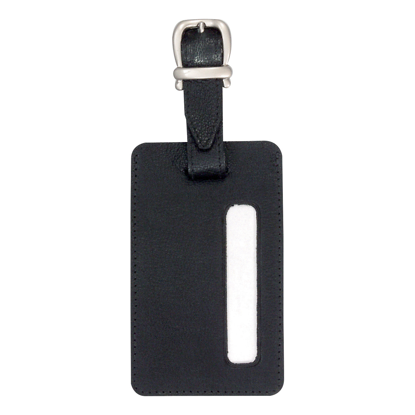 Briefcases & Luggage Alassio Luggage Tag 115x70mm Leather-look Black Ref 43115