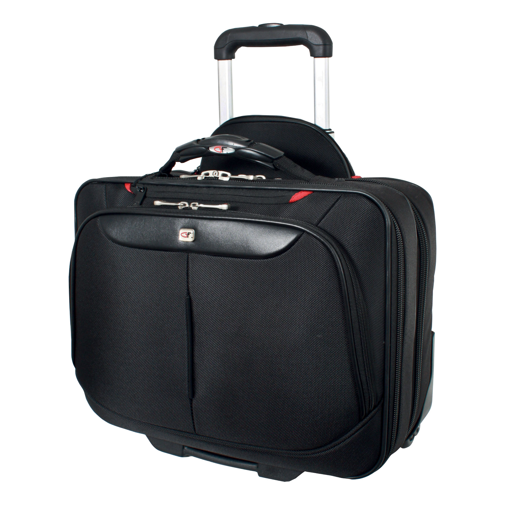 Gino Ferrari Brooklyn Business Bag Padded Wheeled On-board Size 16in Laptop Black Ref GF565
