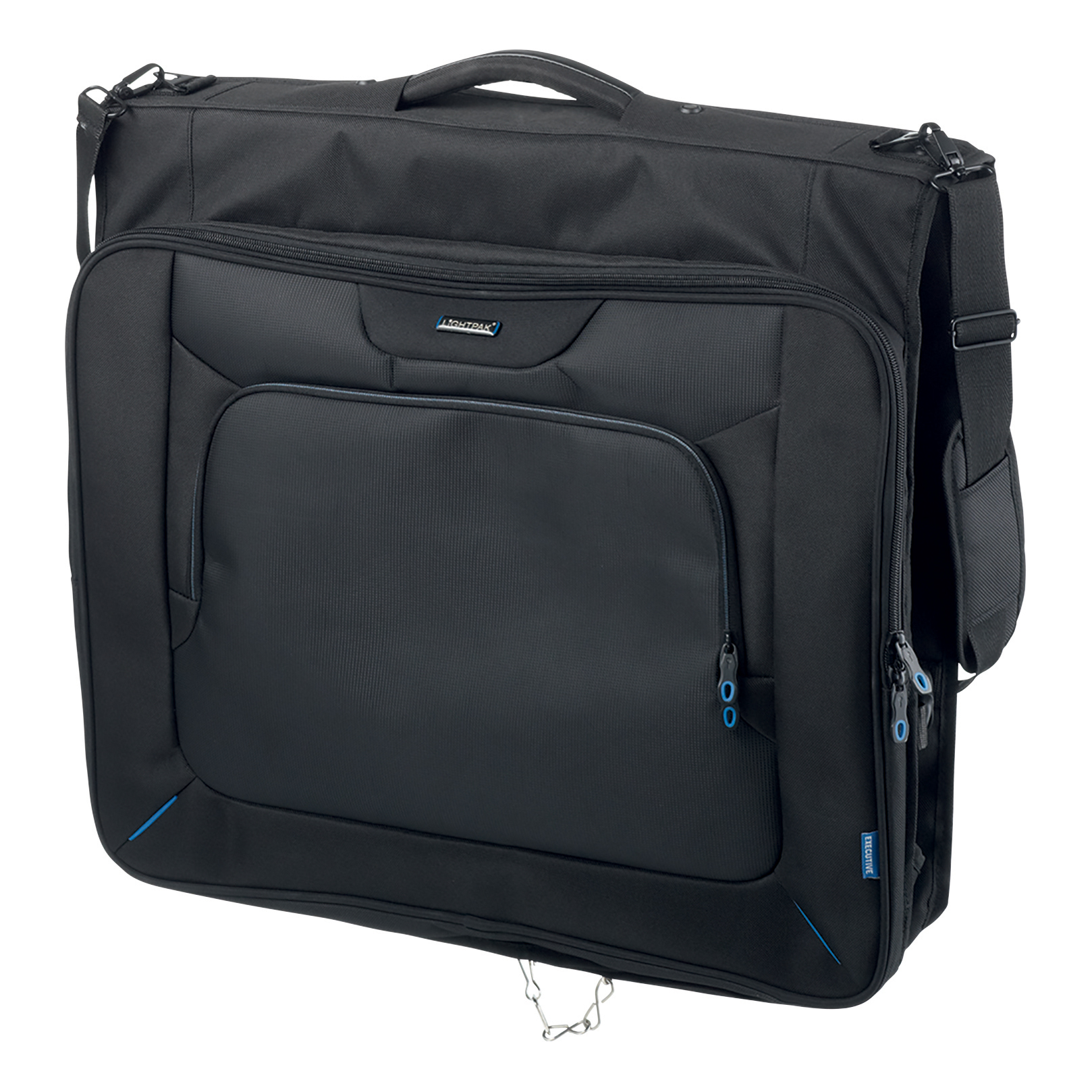 Lightpak Travel Garment Bag Main Compartment with Hanger Polyester Black Ref 46131