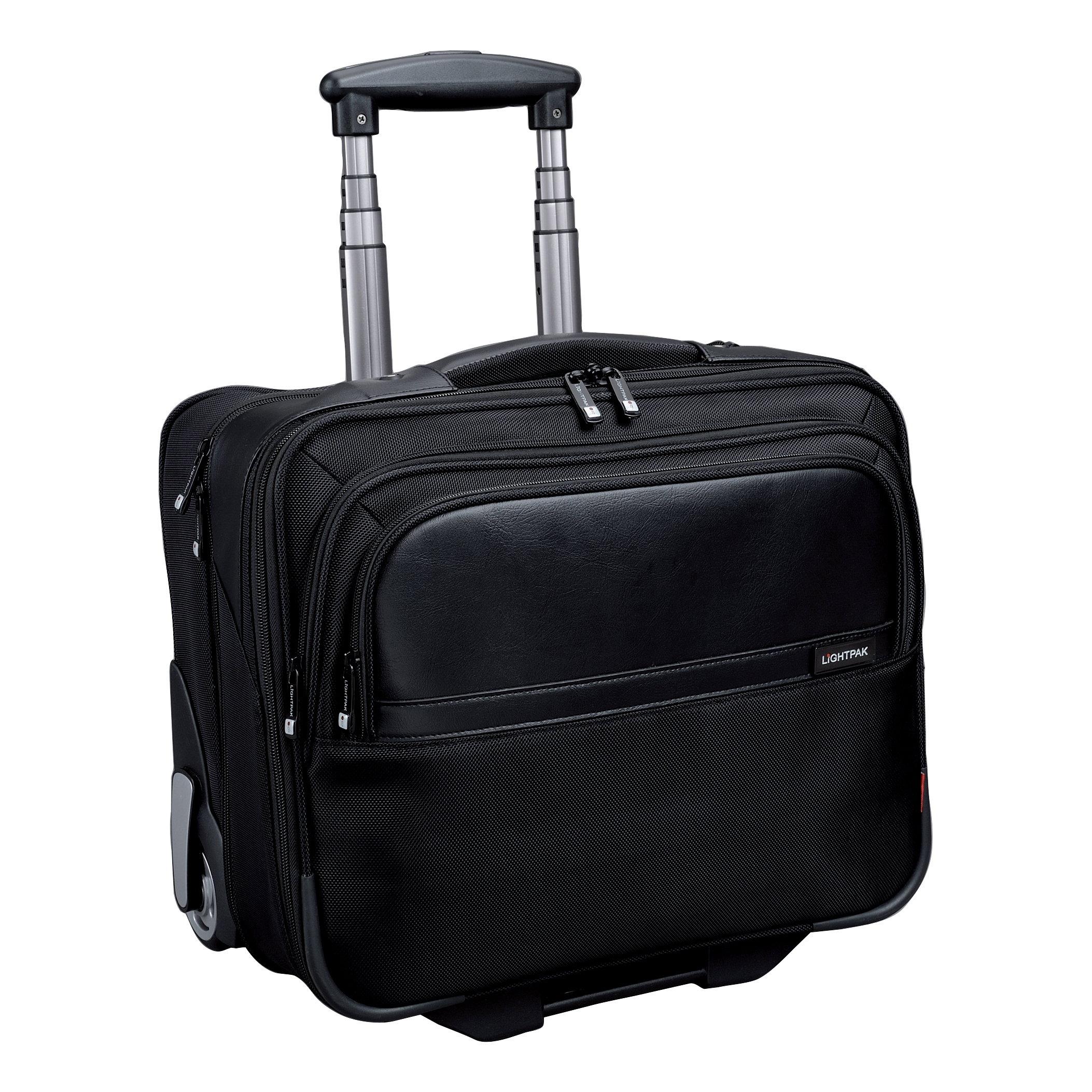 Briefcases & Luggage Lightpak Executive Trolley with Detachable Laptop Sleeve Nylon Capacity 17in Black Ref 46101