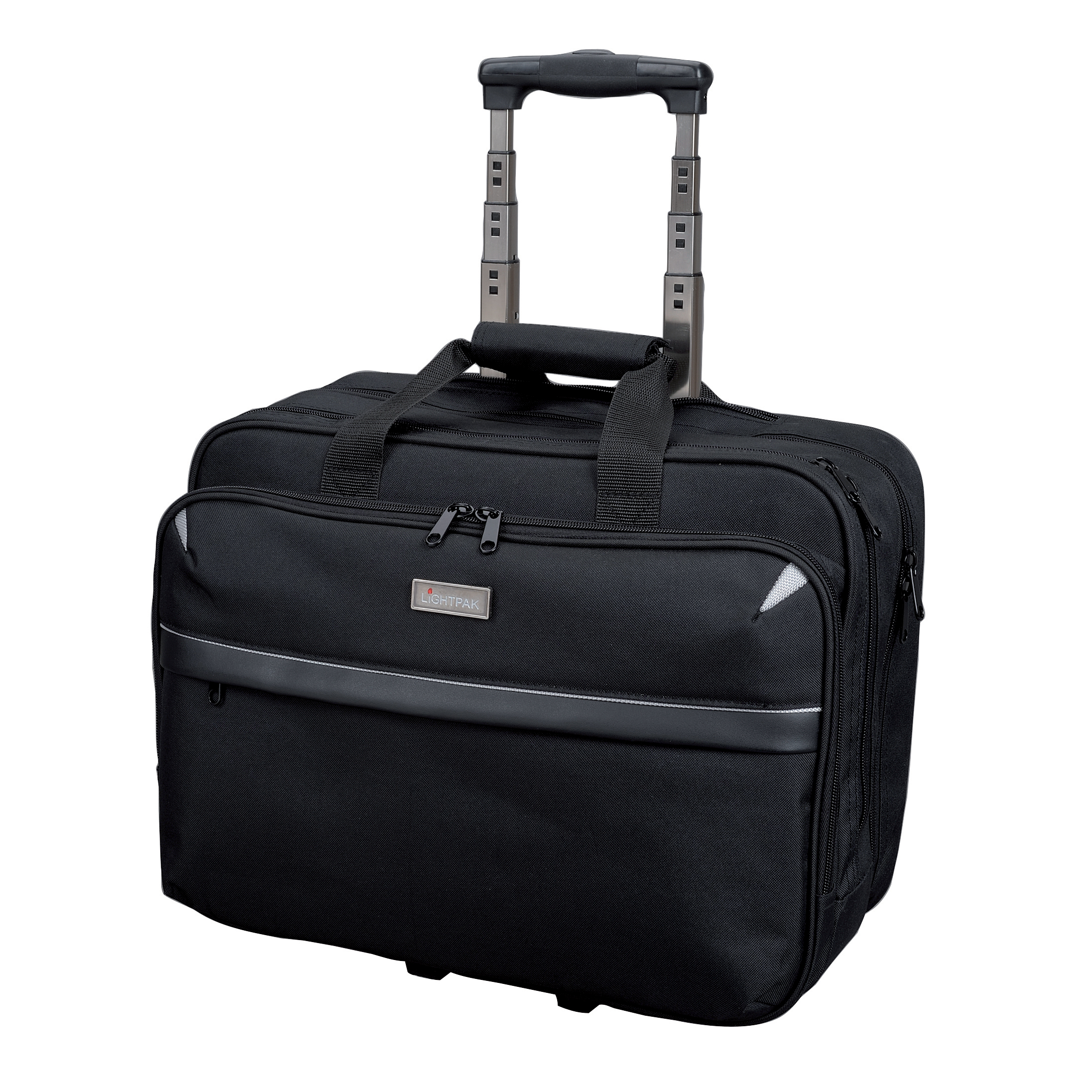 Briefcases & Luggage Lightpak Business Trolley Bag with Laptop Compartment Nylon Capacity 17in Black Ref 46099