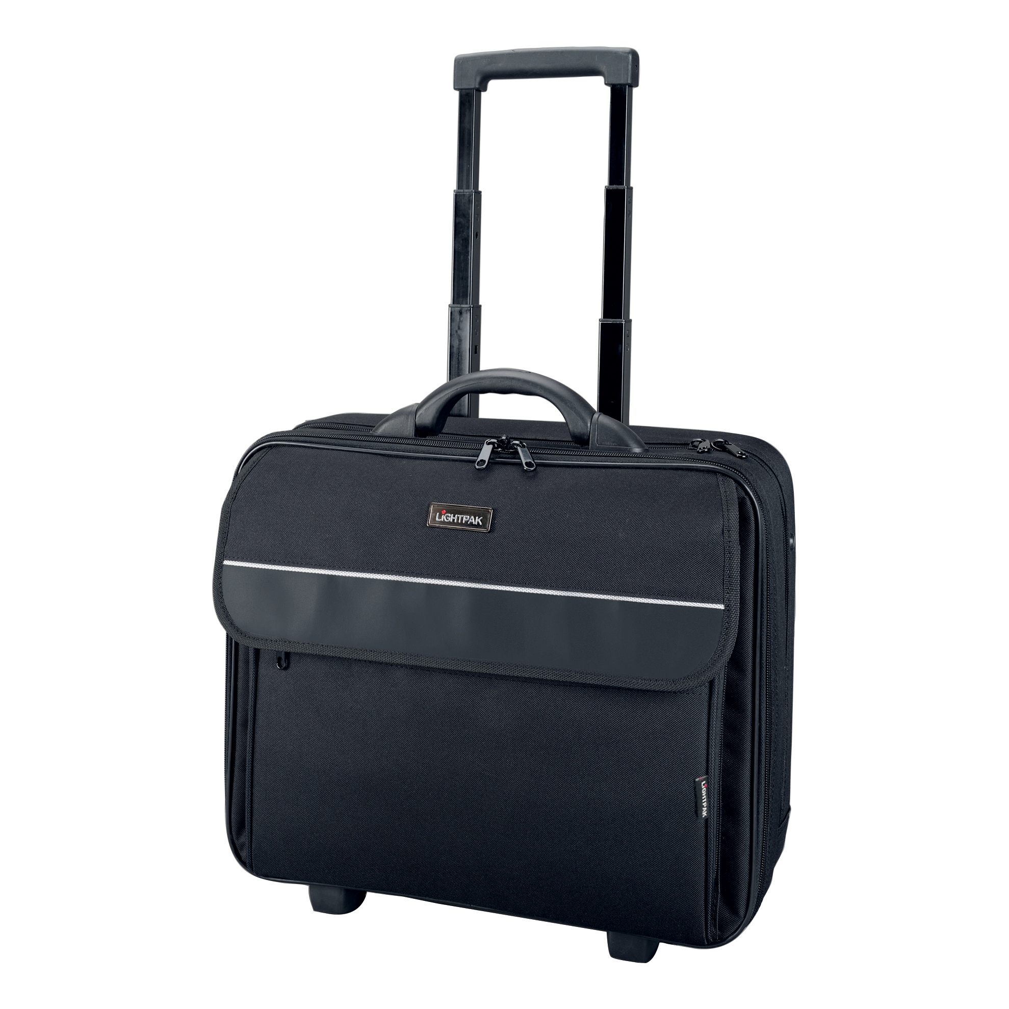 Briefcases & Luggage Lightpak Treviso Laptop Trolley Overnight Nylon Capacity 17in Black Ref 92702