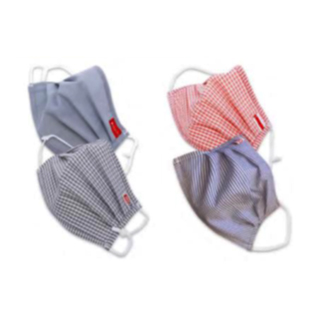 Reusable fabric face mask, 5ply washable Pack of 2