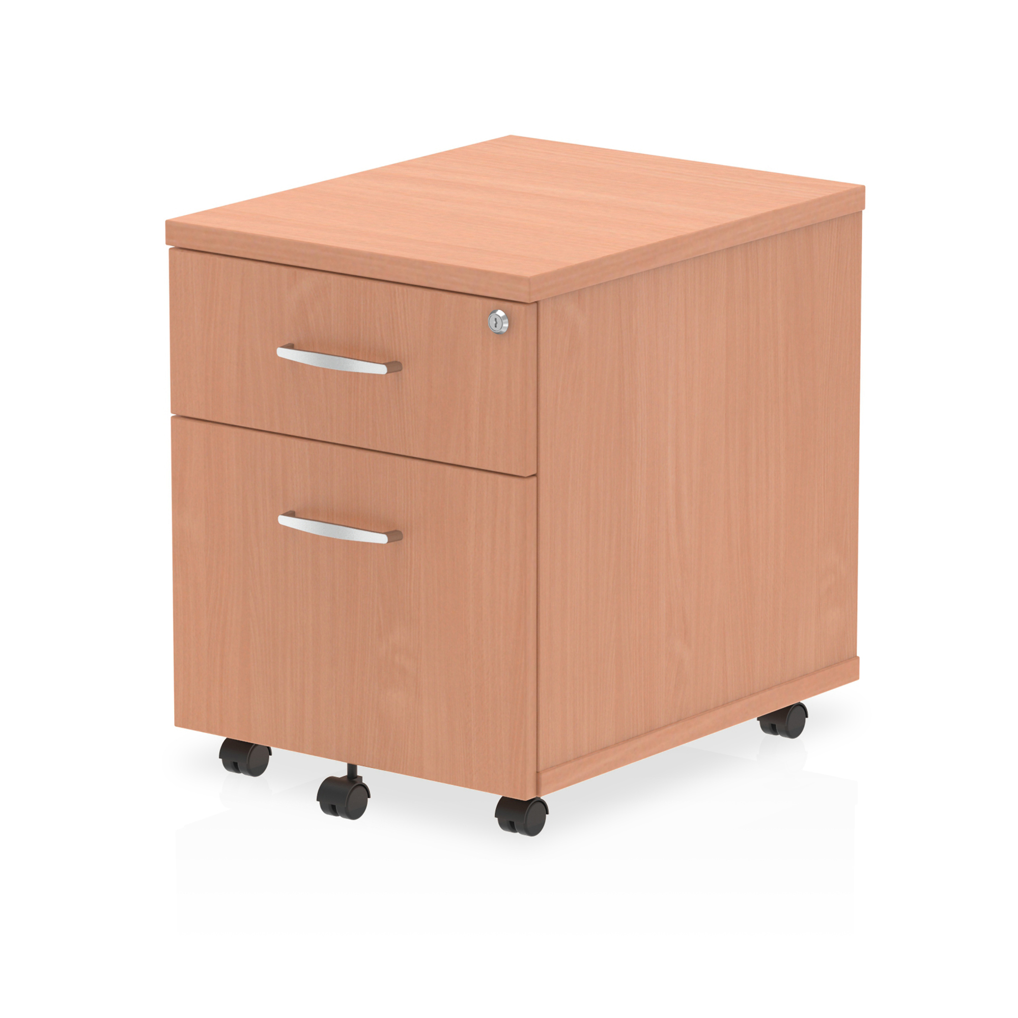 Trexus 2 Drawer Mobile Pedestal 430x500x510mm Beech Ref I000064