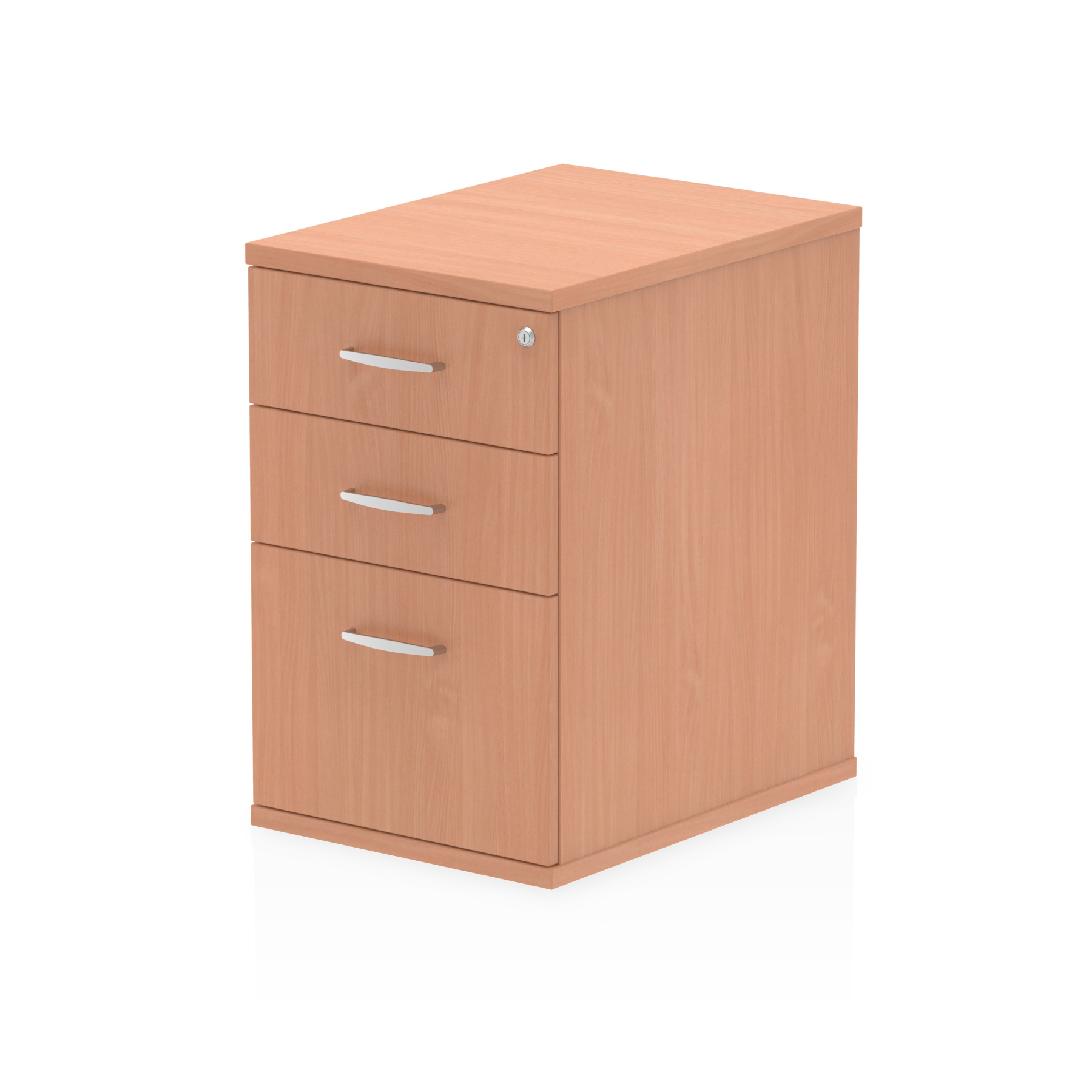 Trexus Desk High 3 Drawer 600D Pedestal 425x600x730mm Beech Ref I000069