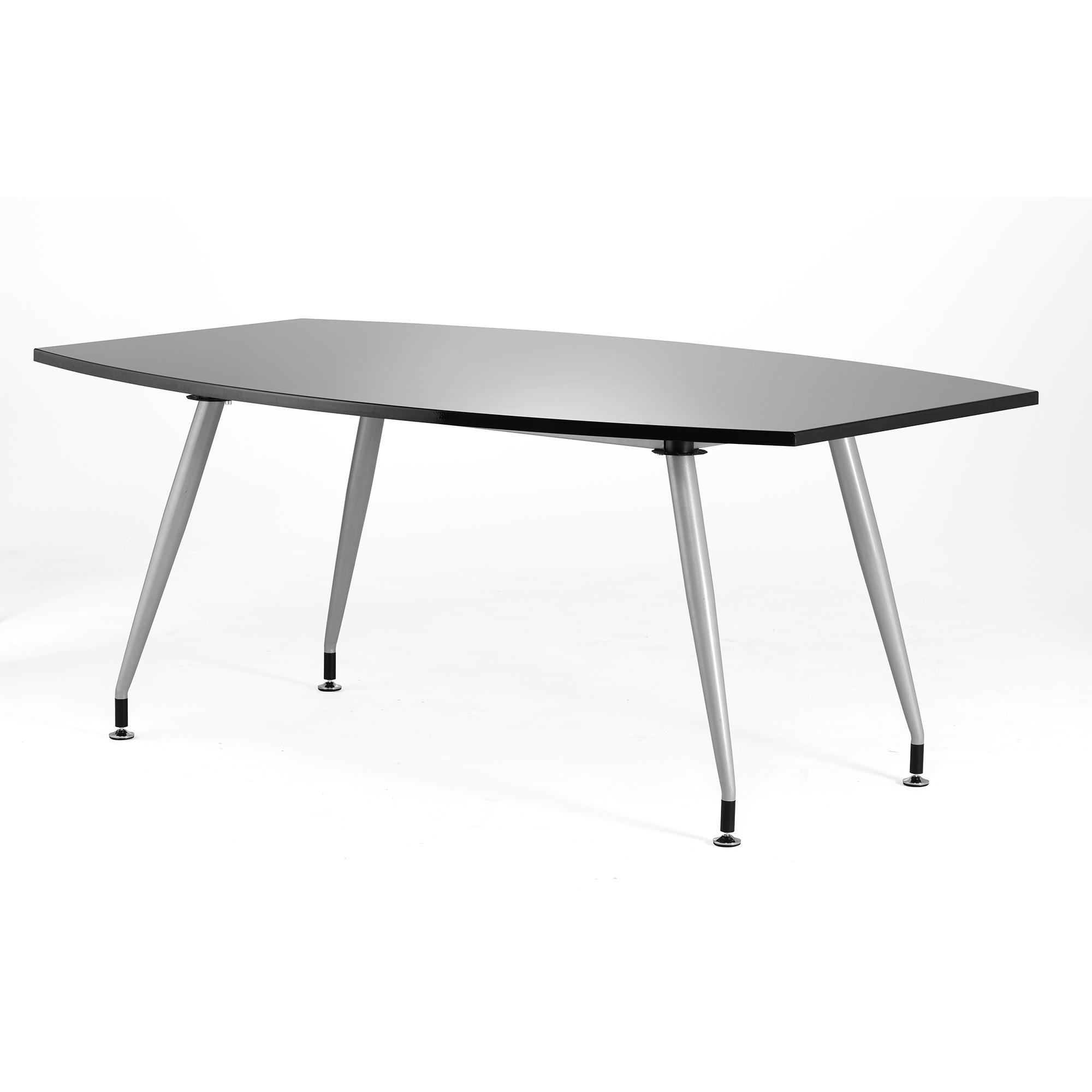 Sonix 1800x1200x800mm Boardroom Table High Gloss Black Ref I000731