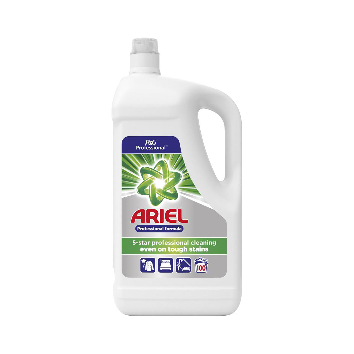 Laundry Basket Ariel Professional Liquid Wash 100 Washes 5 Litre Ref 73402