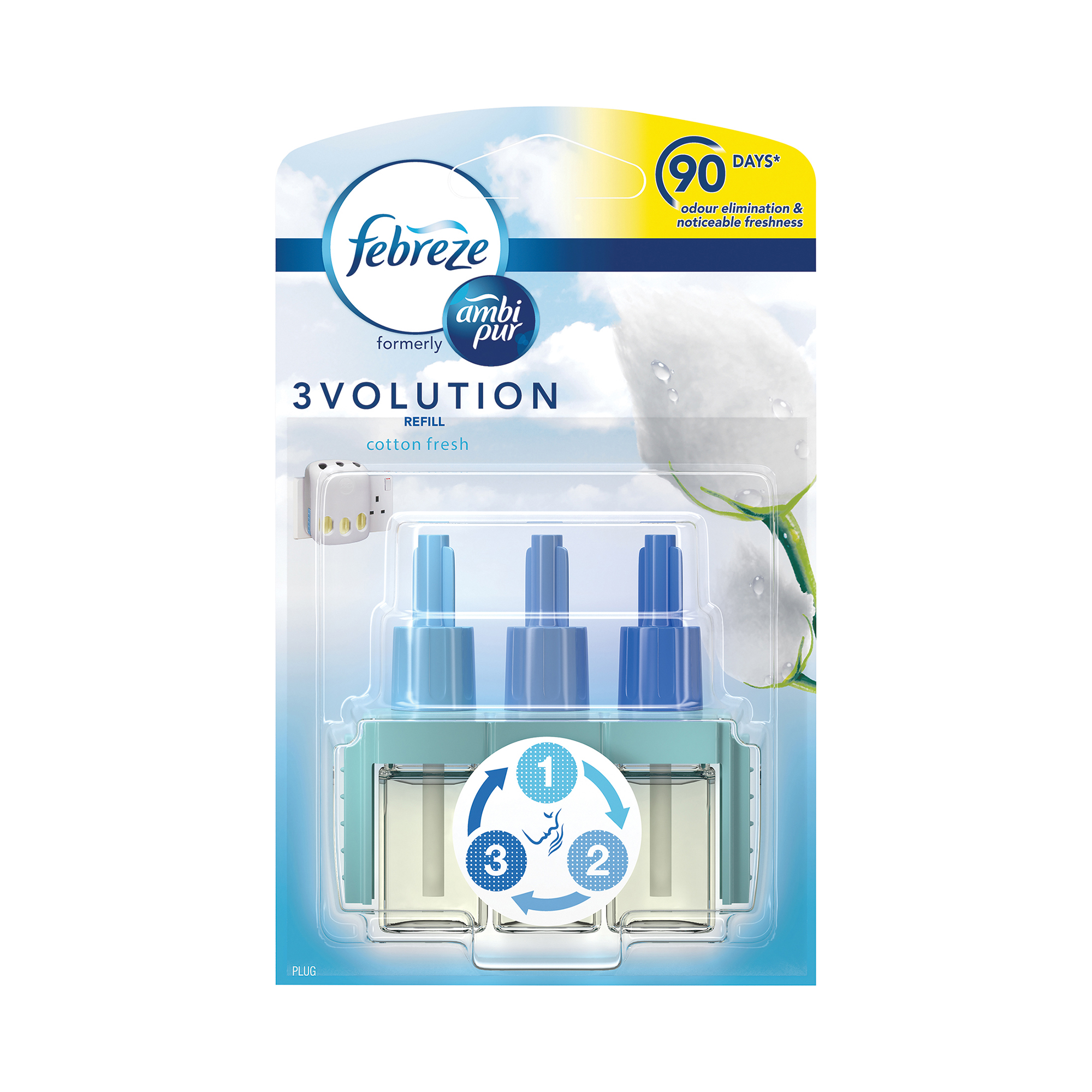 Air Freshener Ambi Pur 3volution Refill for Fragrance Unit Cotton Fresh Ref 1008262