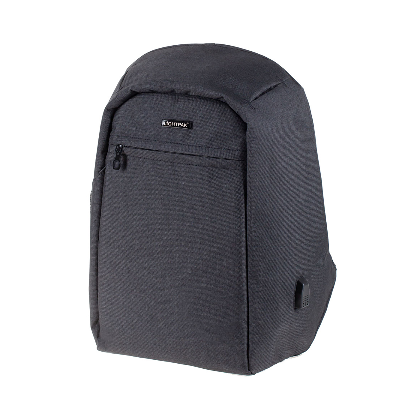 LightPak Safepak Backpack With 15in Laptop Case Polyester Black Ref 46154