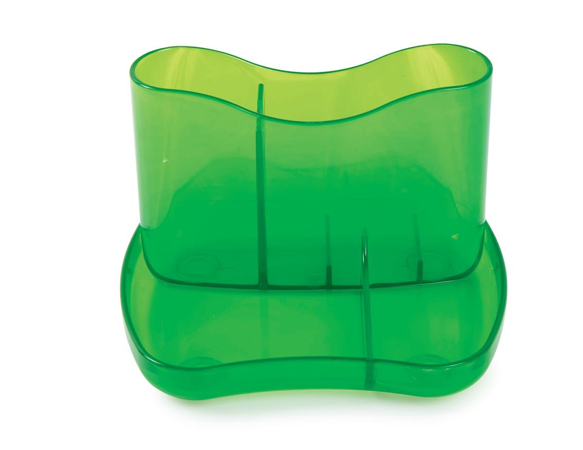 Image for Desk Organiser 4 Compartments 93mm High Ice Green
