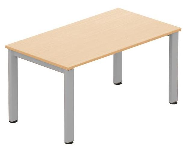 Image for Sonix Meeting Table Rectangular Silver Legs 1400mm Maple