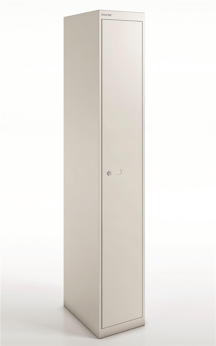 Image for Bisley Steel Locker 457 One Door Chalk White
