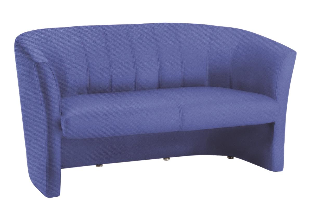 Image for Trexus Reception Chair Static Arms Pre-assembled Fabric Blue