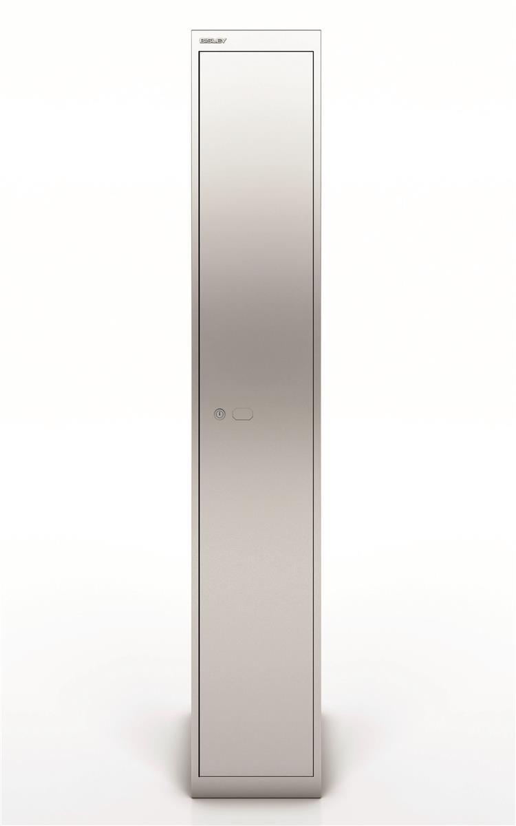 Image for Bisley Steel Locker 457 One Door Silver