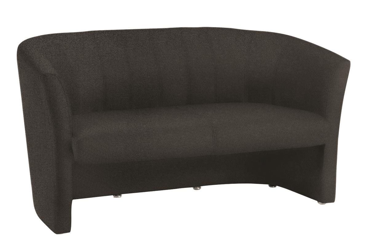 Image for Trexus Reception Chair Static Arms Pre-assembled Fabric Black
