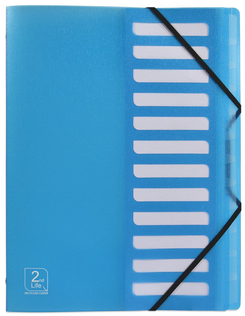 Image for Elba 2nd Life 12 Part Sorter Recycled Polypropylene A4 Blue Ref 400071326