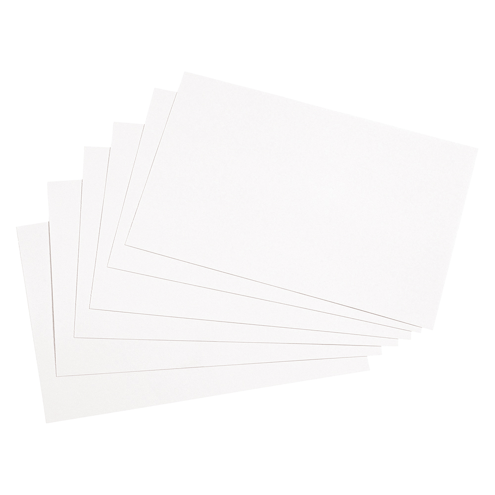 Business Record Cards Blank 6x4in 152x102mm White [Pack 100]