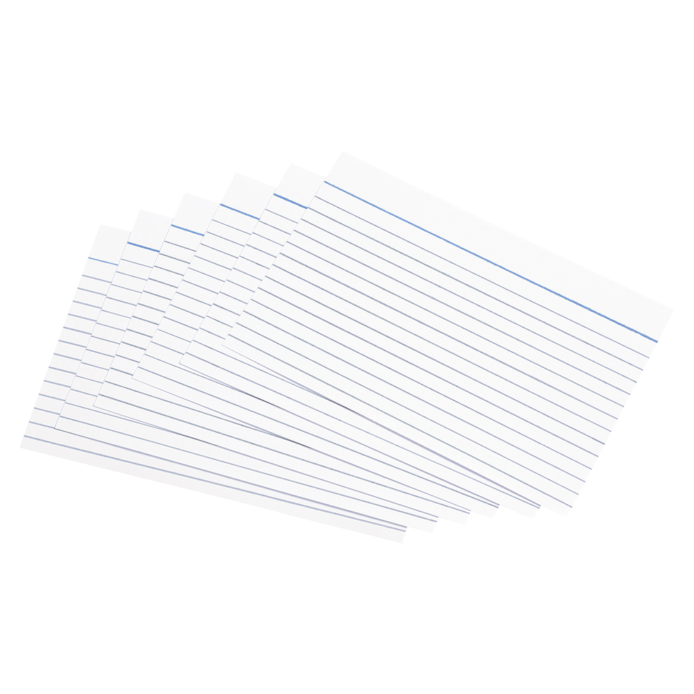 Business Record Cards Ruled Both Sides 6x4in 152x102mm White [Pack 100]