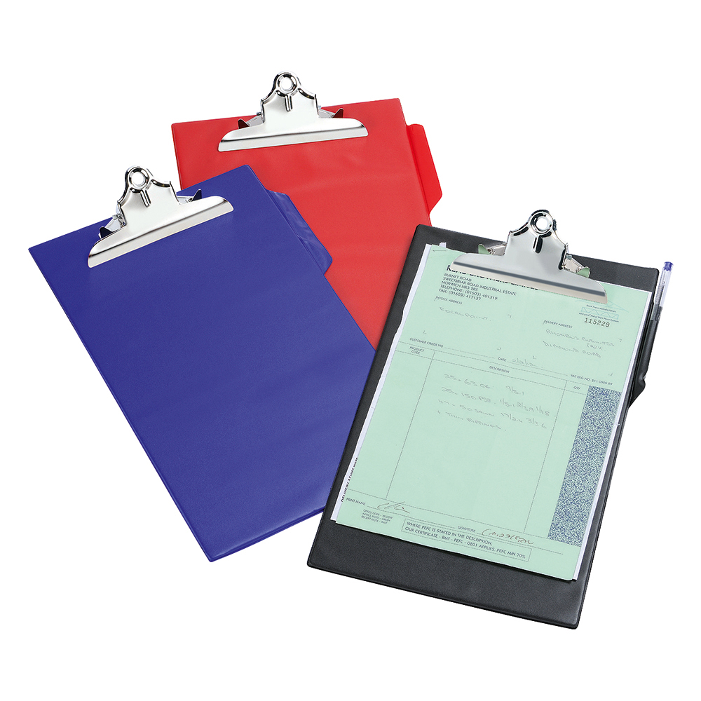 Business Clipboard PVC Finish Heavy Duty Foolscap Black