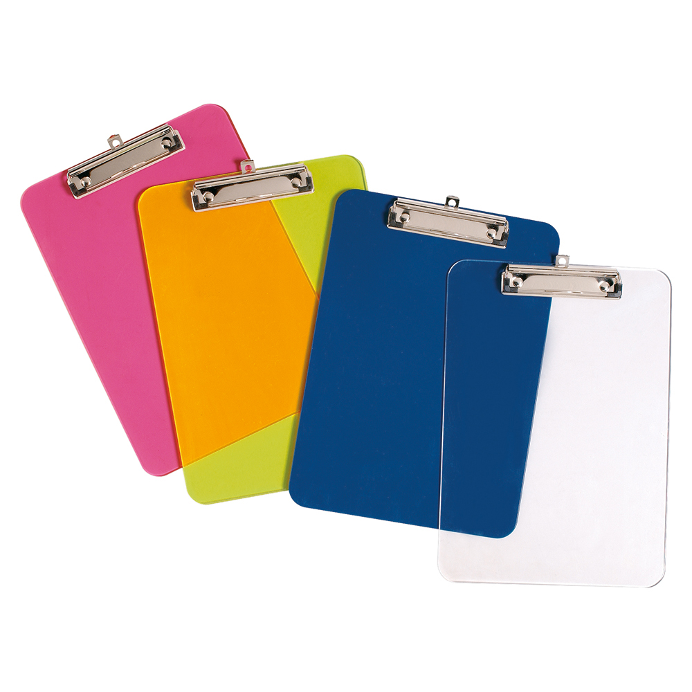 Business Clipboard Solid Plastic Durable with Rounded Corners A4 Blue