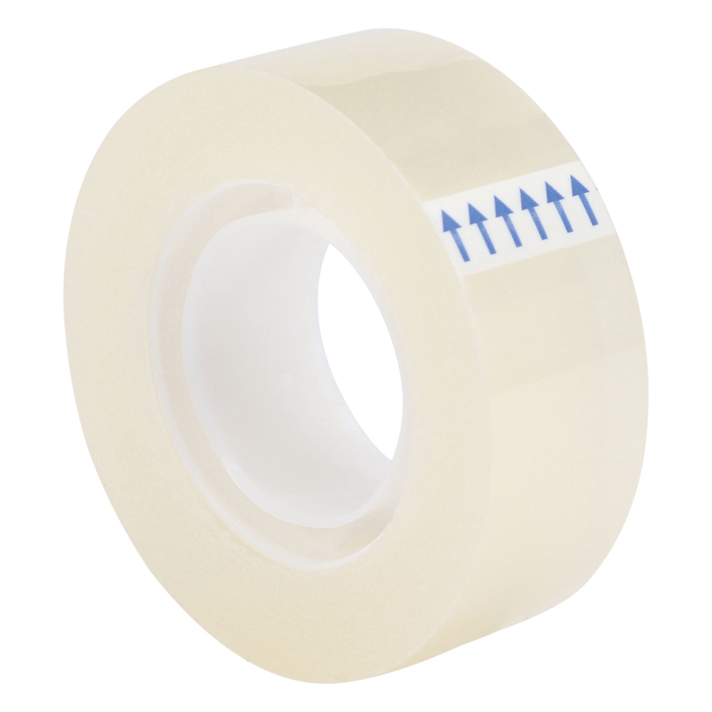 Business Clear Tape Roll Small Easy-tear Polypropylene 40 Microns 19mm x 33m [Pack 8]
