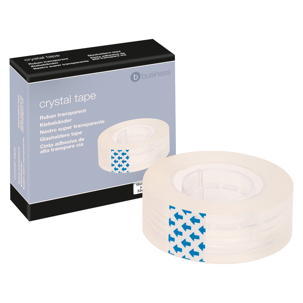 Business Crystal Tape Roll Easy-tear Permanent Secure 19mm x 33m
