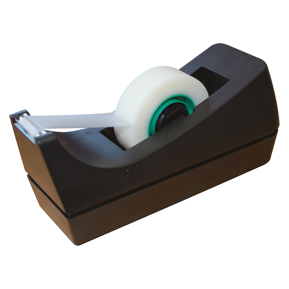 Business Tape Dispenser Desktop Roll Capacity 19mm Width 33m Length Black