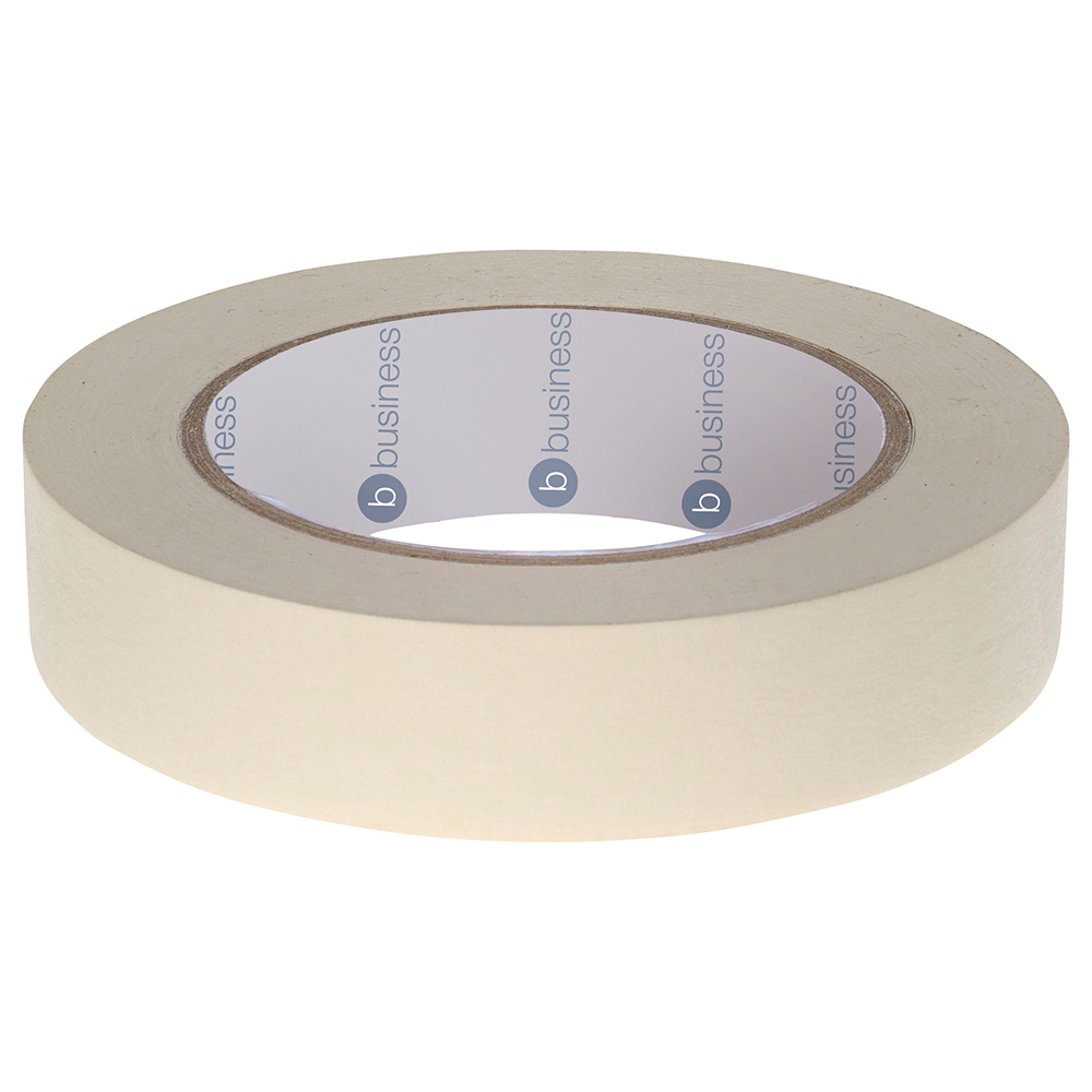 Business Masking Tape Crepe Paper 25mm x 50m [Pack 6]