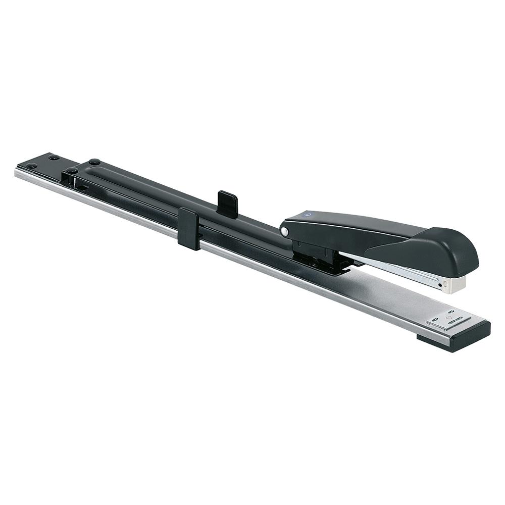 Business Stapler Long Arm Full Strip 300mm Reach Capacity 20 Sheets Black