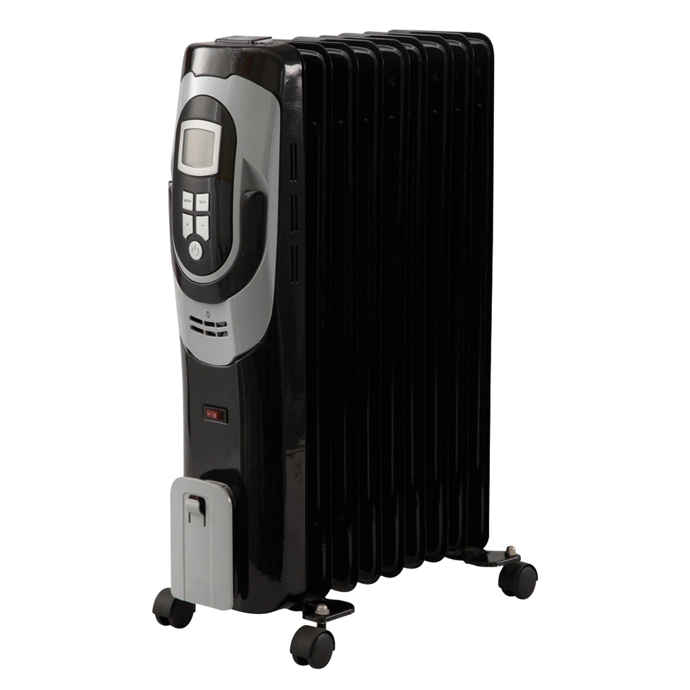 Business Radiator Oil Filled Mobile with Digital Thermostat 3 Heat Settings 2500W