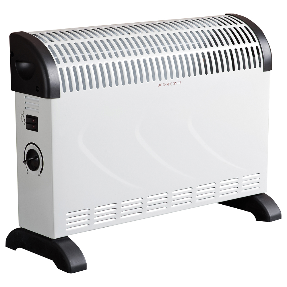 Business Convector Heater Electric 2 Heat Settings 2kW White and Black
