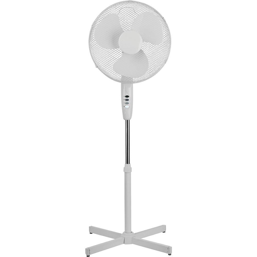 5 Star Facilities Pedestal Fan 16 Inch Floor-standing w/Tilt & Lock 3-Speed H1180-1400mm Dia.406mm White
