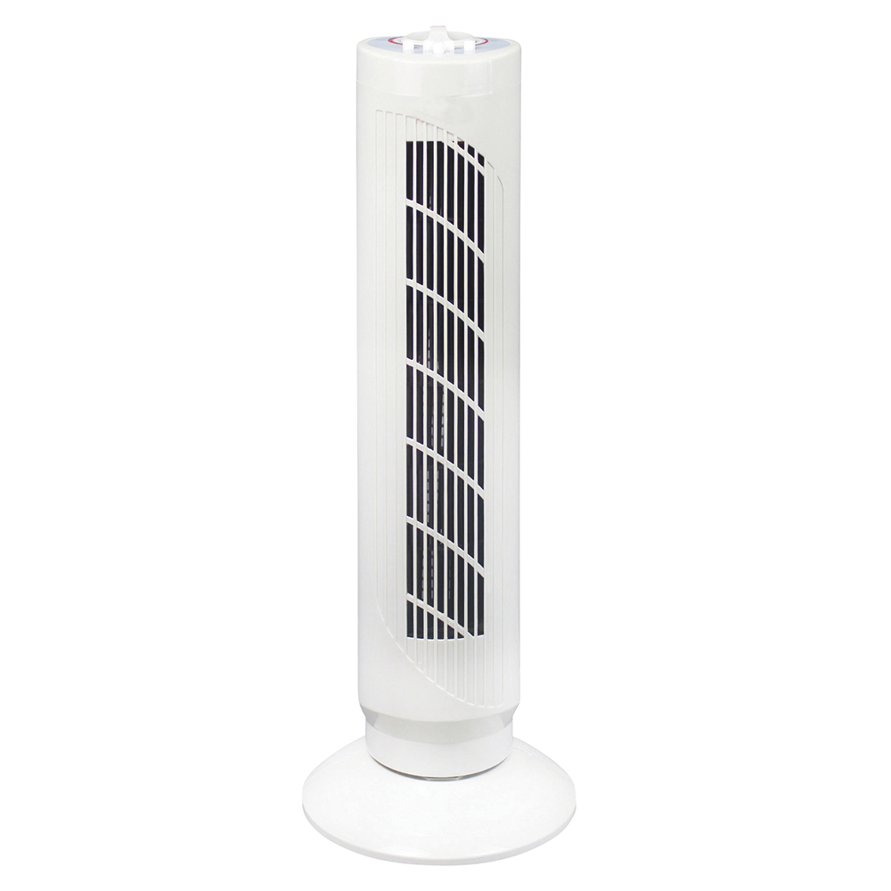 Business Tower Fan Oscillating 3-Speed 120-Minute Timer H762mm White