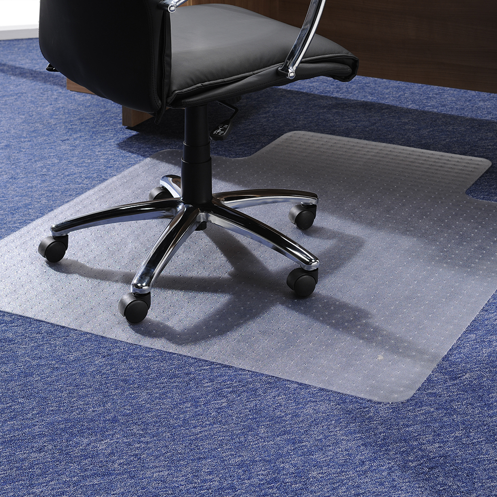 Business Polycarbonate Carpet Chairmat Lipped 1190x890mm