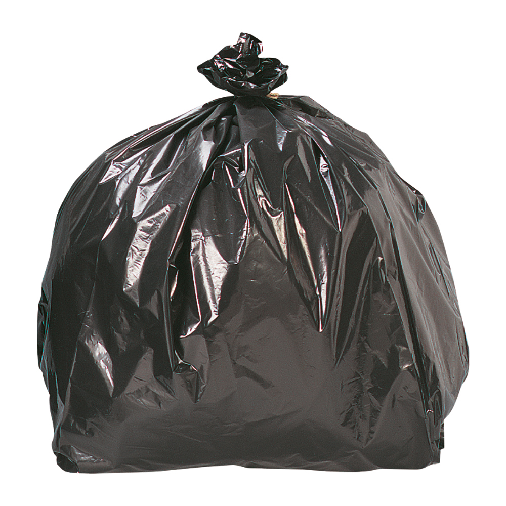 Business Bin Liners Heavy Duty 110 Litre Capacity W435xD290xH970mm 24 Micron Black [Roll 200]