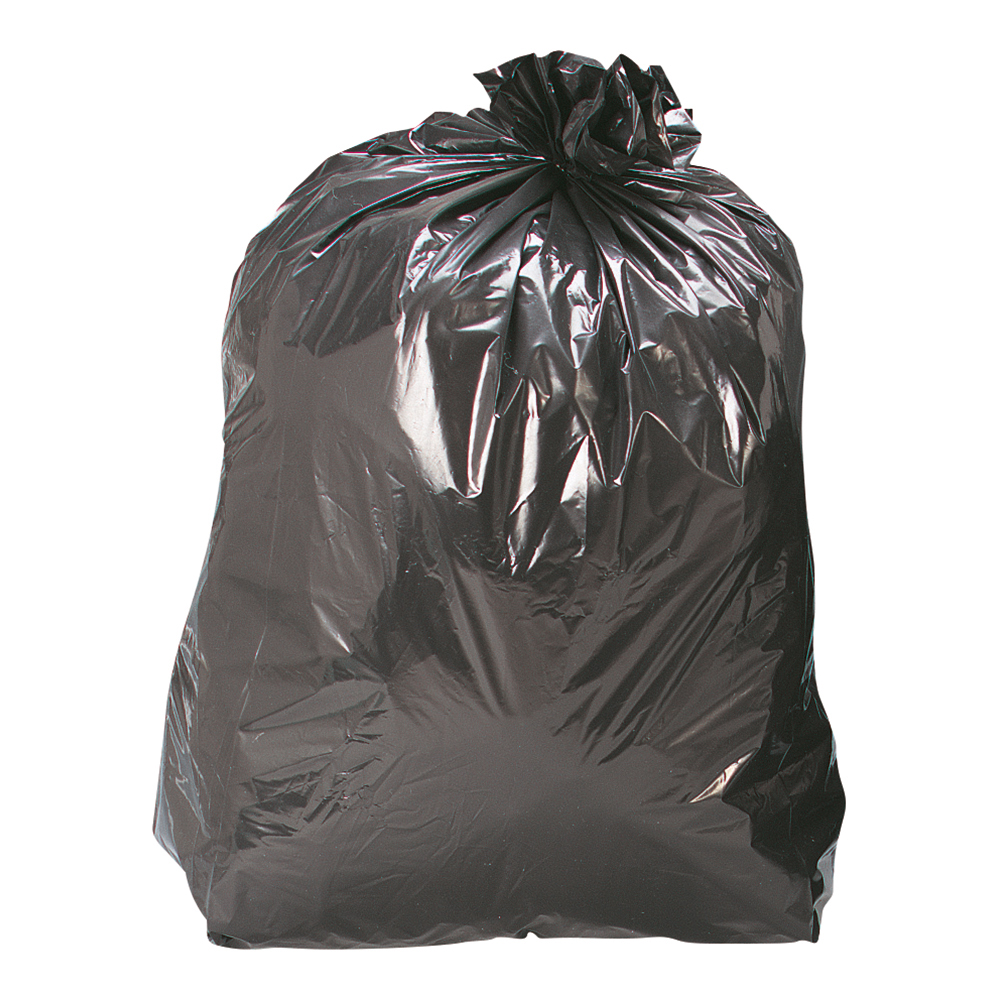 Business Compactor Bin Liners 110 Litre Capacity W430xD340xH950mm 30 Micron Black [Pack 200]