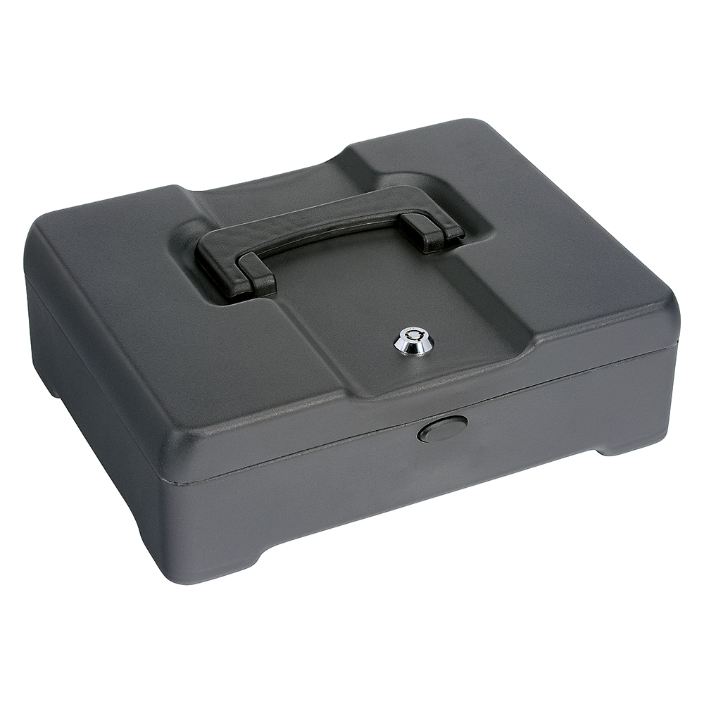 Business High Capacity Cash Box 8 Part Coin Tray 1 Part Note Section W300xD230xH90mm Titanium