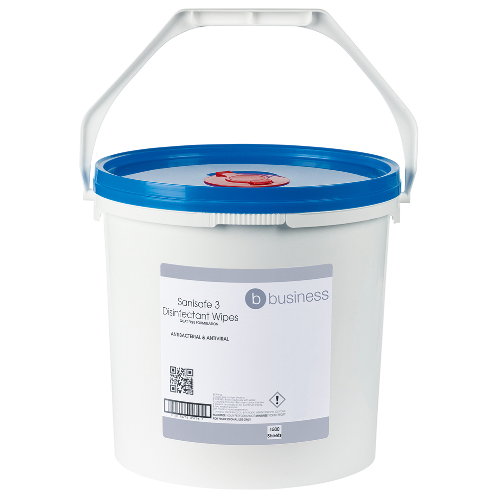 Business Disinfectant Wipes Anti-bacterial PHMB-free BPR Low-residue 20x23cm [Bucket 500 Sheets]