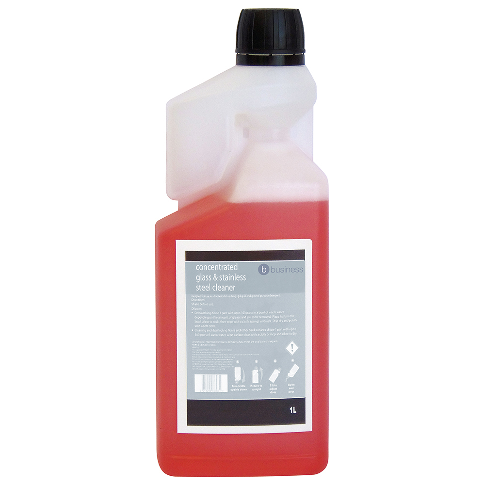 Business Concentrated Glass & Stainless Steel Cleaner 1 Litre