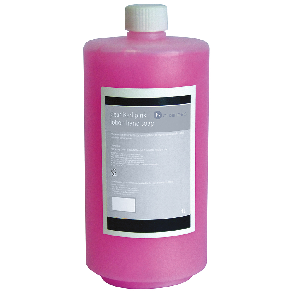 Business Lotion Hand Soap Pearlised Pink 1 litre