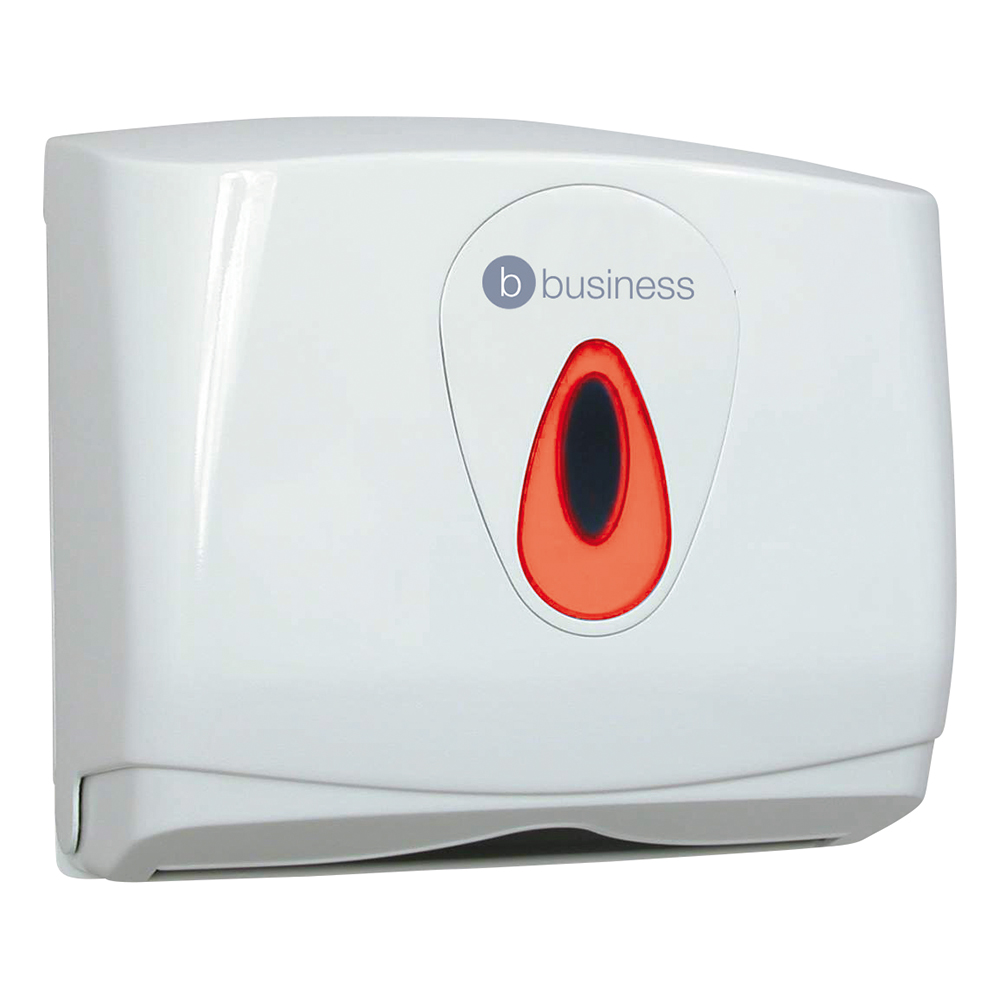 Business Hand Towel Dispenser Small W290xD145xH265mm White