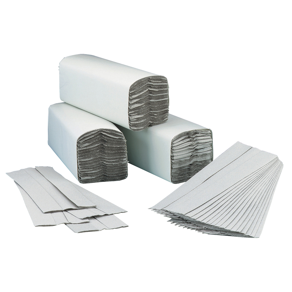 Business Hand Towel C-Fold Two-ply Recycled 230x310mm 192 Towels Per Sleeve Natural [Pack 15]
