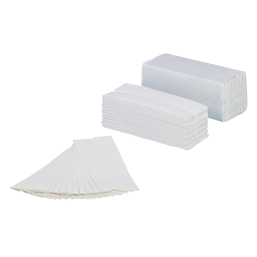 Business Hand Towel C-fold Two-ply Recycled Size 230x305mm 160 Towels Per Sleeve White [Pack 15]