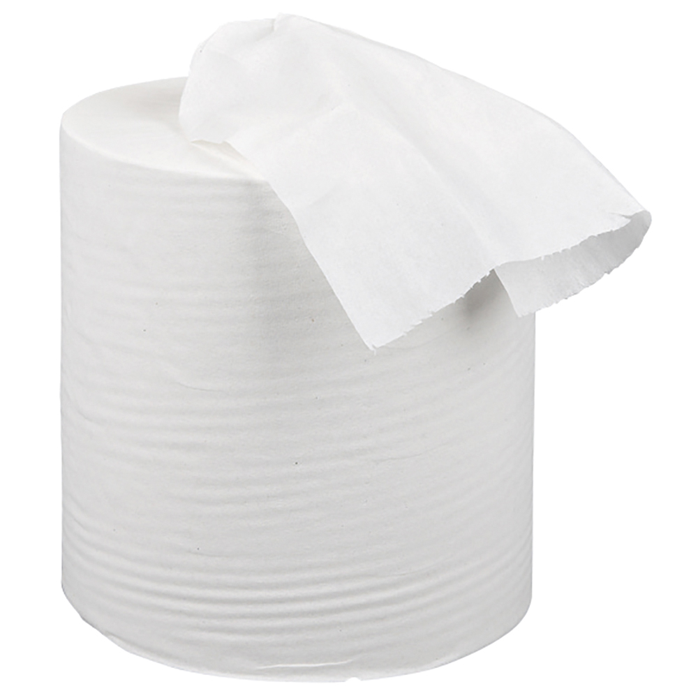 Business Centrefeed Tissue Refill for Mini Dispenser Single-ply L120mxW197mm White [Pack 12]