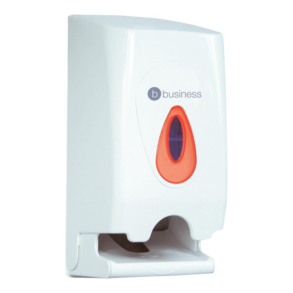 Business Twin Toilet Roll Dispenser W148xD150xH315mm White