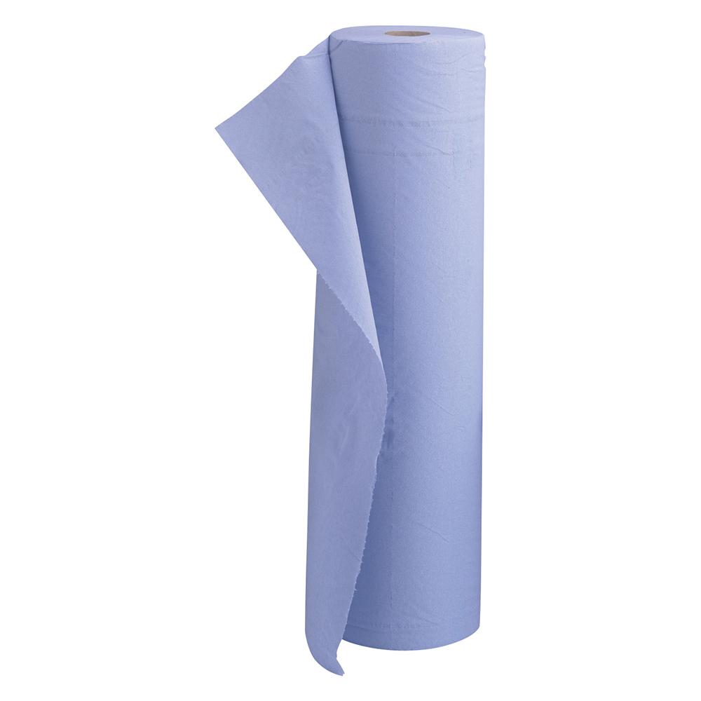 5 Star Facilities Hygiene Roll 20 Inch Width +50 per cent recycled 2-ply 130 Sheets W500xL457mm 40m Blue